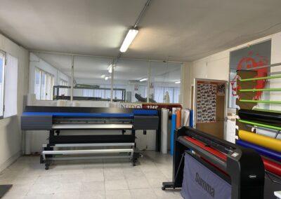 Sección de impresión de vinilos