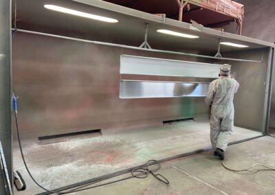 Cabina de pintura en polvo